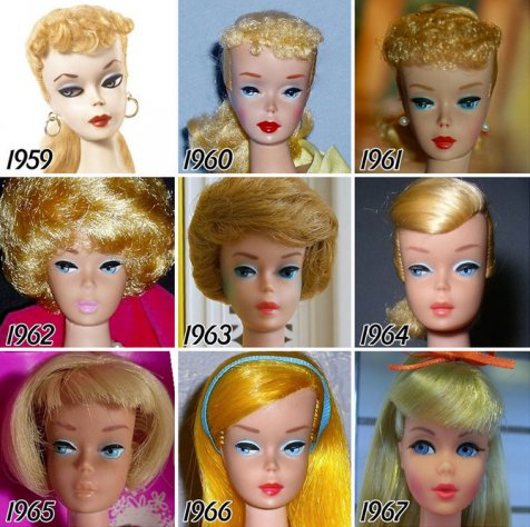 Ternyata Barbie Setiap Tahunnya Berganti Penampilan