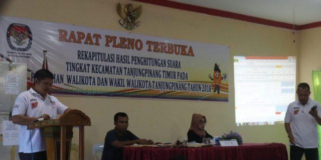 Rekapitulasi Pilwako Tanjungpinang Tinggal Kelurahan Pinang Kencana