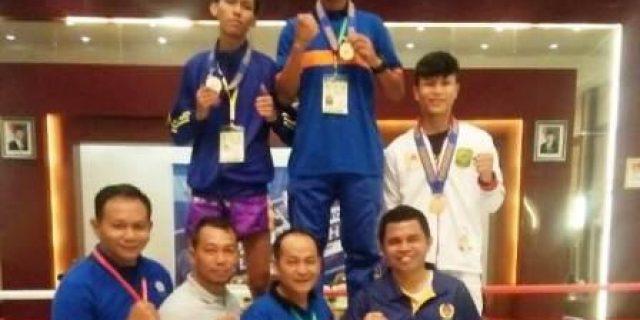 Atlet Muaythai Sumbang Emas PertamaLingga