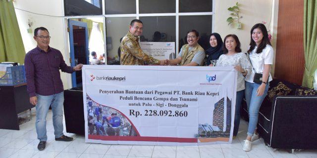 Bank Riau Kepri Peduli Korban Gempa dan Tsunami Palu-Sigi-Donggala