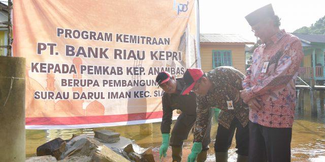 Pemkab Kepulauan Anambas Wujudkan CSR Bank Riau Kepri Berupa Musholla