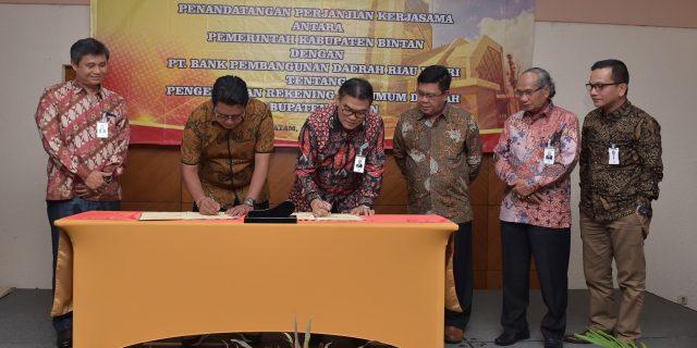 Pelayanan Kasda Pemkab Bintan Beralih Ke Jaringan Kantor Bank Riau Kepri Kijang