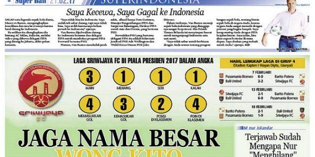 Widodo Minta riwijaya FC Jaga Nama Besar