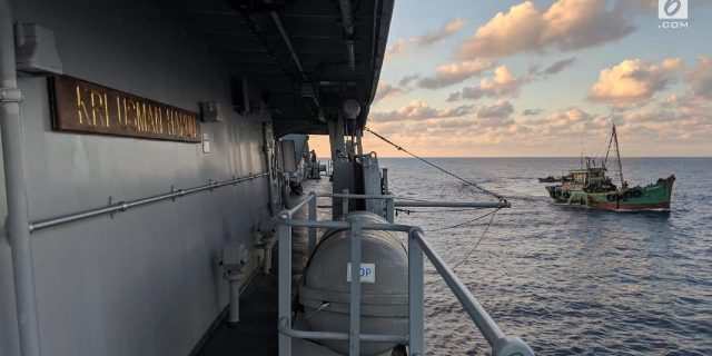 Perlawanan Kapal Vietnam Saat Ditangkap KRI Tjiptadi-381 Dilaut Natuna