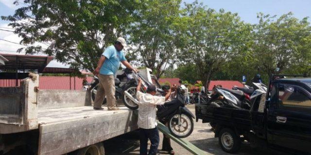 Razia Polisi di Batu 5 Tanjungpinang Amankan Puluhan Ranmor Kena Tilang