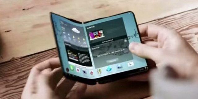 Smartphone Samsung Ini Bisa Dilipat Seperti Buku